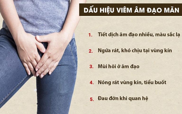 Nhận biết các dấu hiệu viêm âm đạo mãn tính