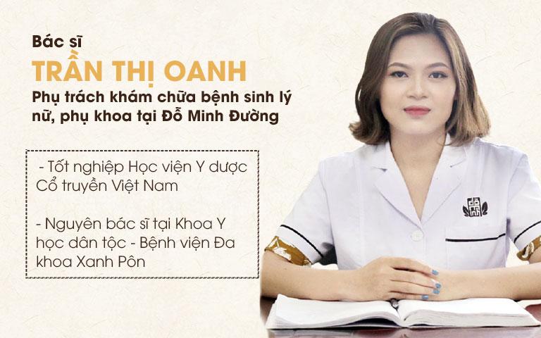 Bác sĩ Trần Thị Oanh - Nhà thuốc Đỗ Minh Đường