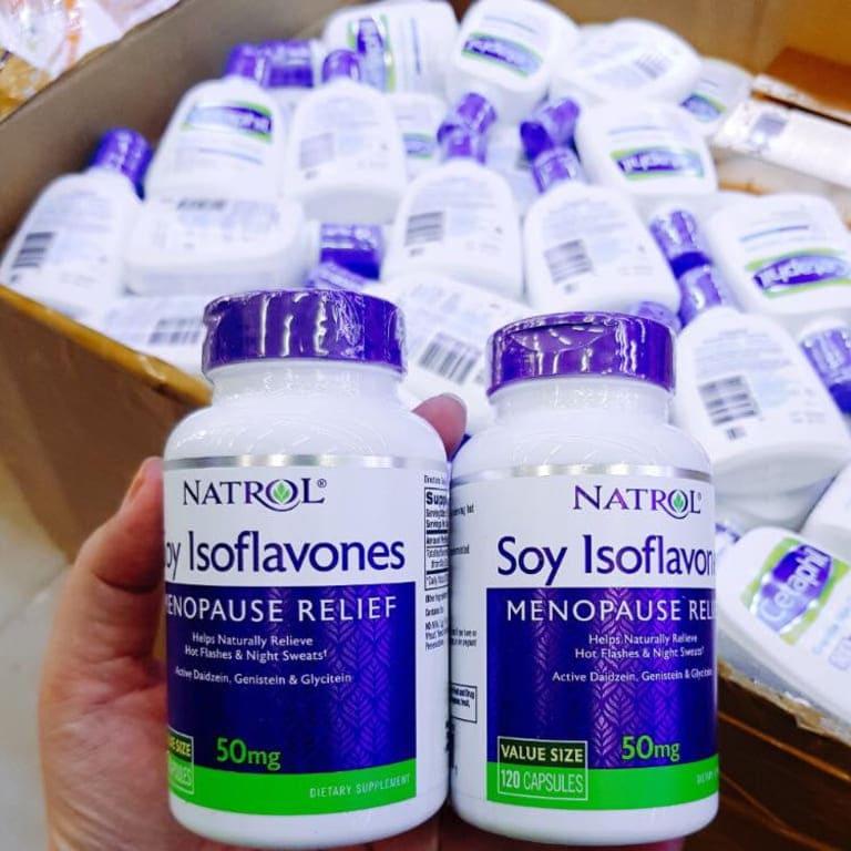 Natrol Soy Isoflavones sản phẩm an toàn xua tan lo lắng cho phụ nữ khi bị rối loạn nội tiết