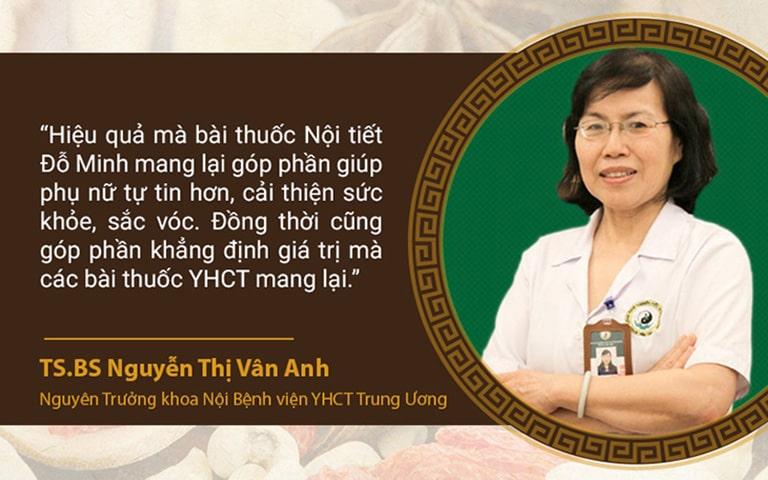Bác sĩ Vân Anh chia sẻ về bài thuốc Nội tiết Đỗ Minh