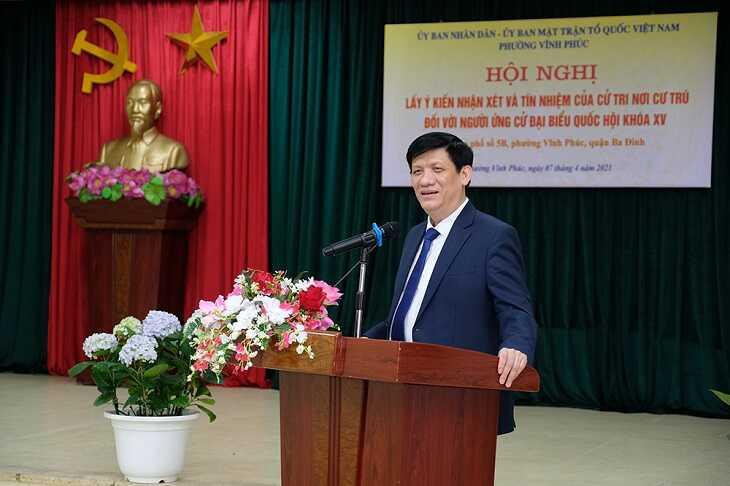 GS.TS Nguyễn Thanh Long- Bộ trưởng Bộ Y tế phát biểu tại hội nghị Ảnh:Trần Minh