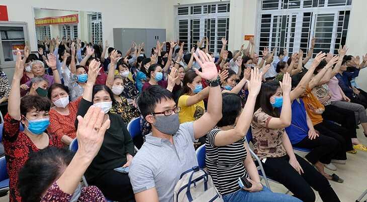 Tại Hội nghị, 100% cử tri nơi cư trú biểu quyết nhất trí giới thiệu GS.TS Nguyễn Thanh Long, Bộ trưởng Bộ Y tế ứng cử ÐBQH khóa XV./.