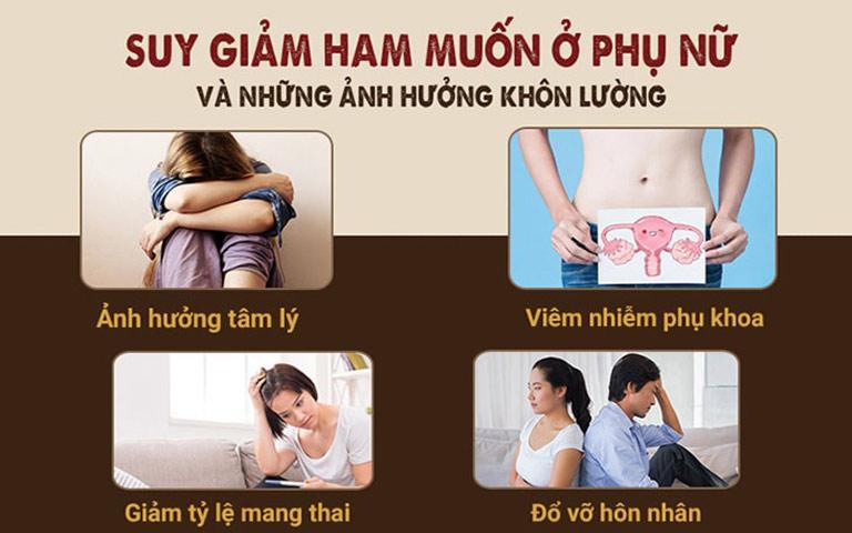 Hiện tượng suy giảm ham muốn tình dục ở nữ giới gây ảnh hưởng xấu đến cơ thể