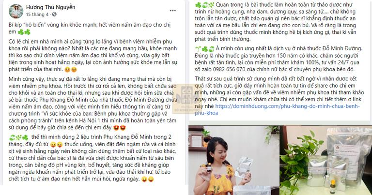 Bài đăng của mẹ bỉm Hương moon trên facebook cá nhân