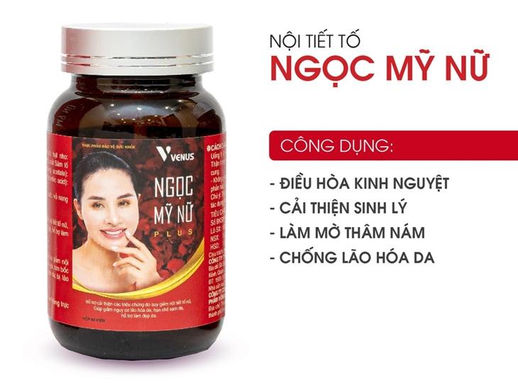 Nội tiết tố Ngọc Mỹ nữ là thực phẩm bảo vệ sức khỏe được sản xuất tại Việt Nam.