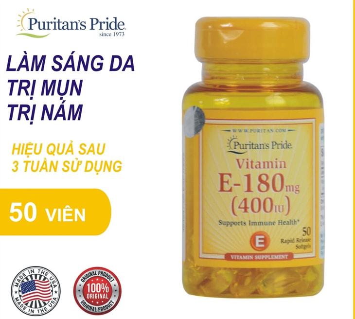 Vitamin e bổ sung nội tiết Puritan's Pride Vitamin E có thể hỗ trợ tim, hệ tuần hoàn, chống oxy hóa, điều trị gan nhiễm mỡ, Cholesterol tăng cao và bảo vệ mắt.